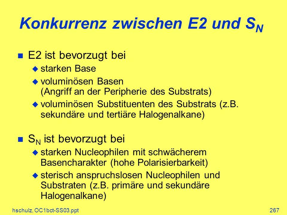 Konkurrenz zwischen E2 und SN