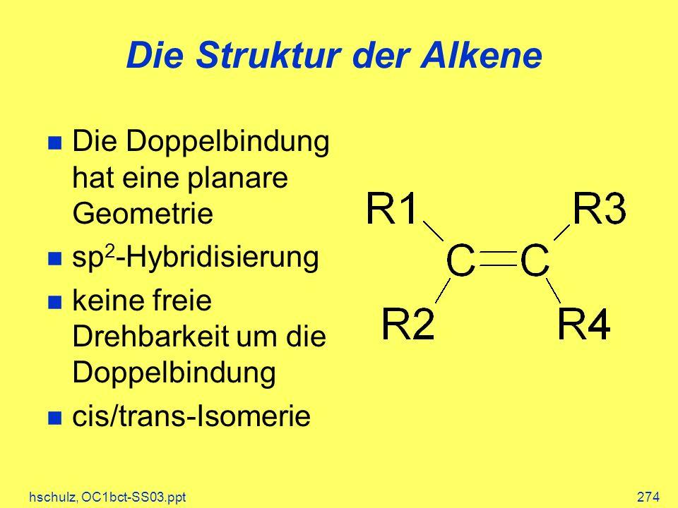 Die Struktur der Alkene