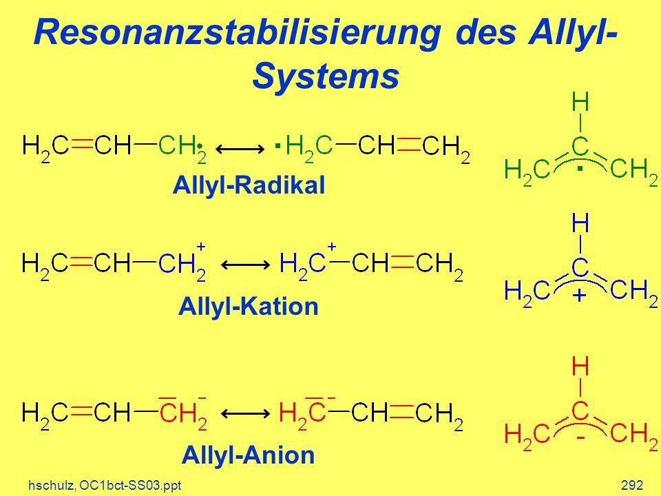 Resonanzstabilisierung des Allyl-Systems