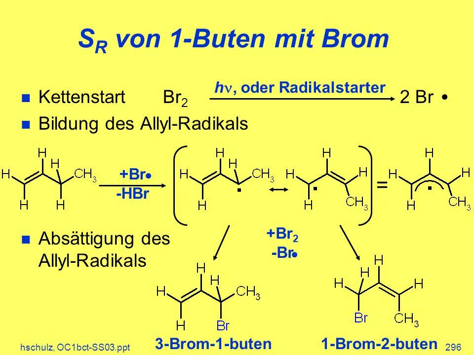 SR von 1-Buten mit Brom = Kettenstart Br2 2 Br
