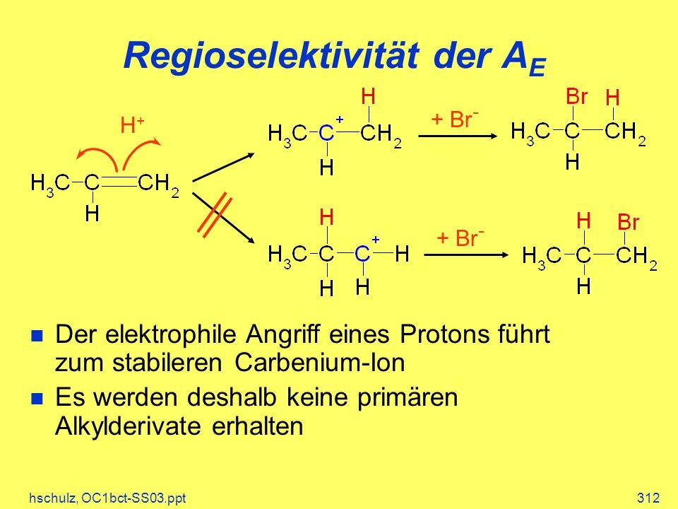 Regioselektivität der AE