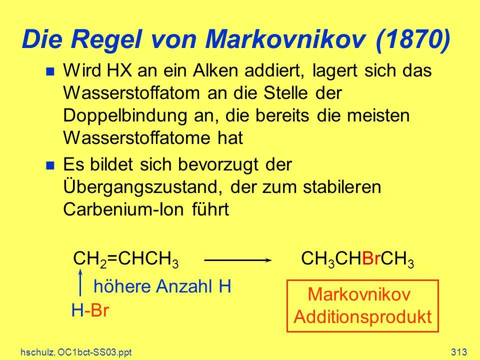 Die Regel von Markovnikov (1870)