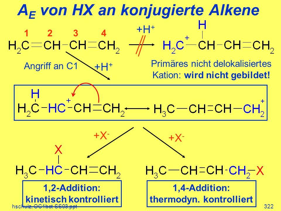 AE von HX an konjugierte Alkene