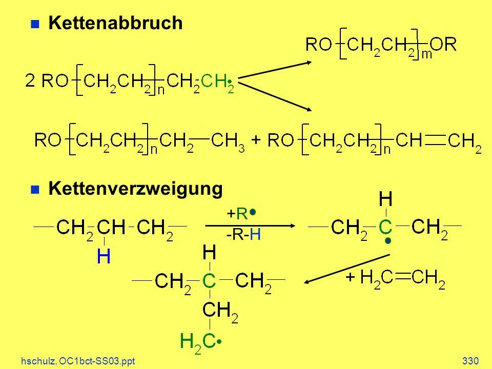 Kettenabbruch Kettenverzweigung +R -R-H hschulz, OC1bct-SS03.ppt