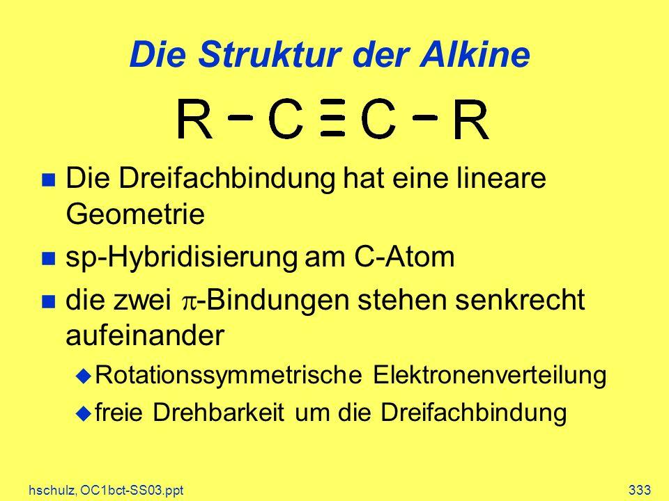 Die Struktur der Alkine