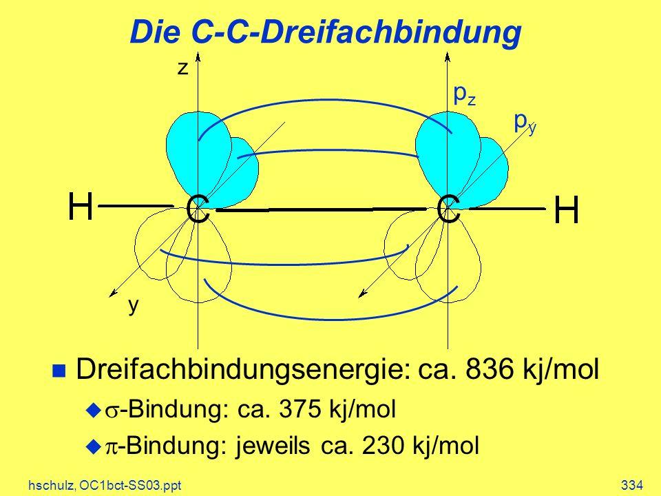 Die C-C-Dreifachbindung