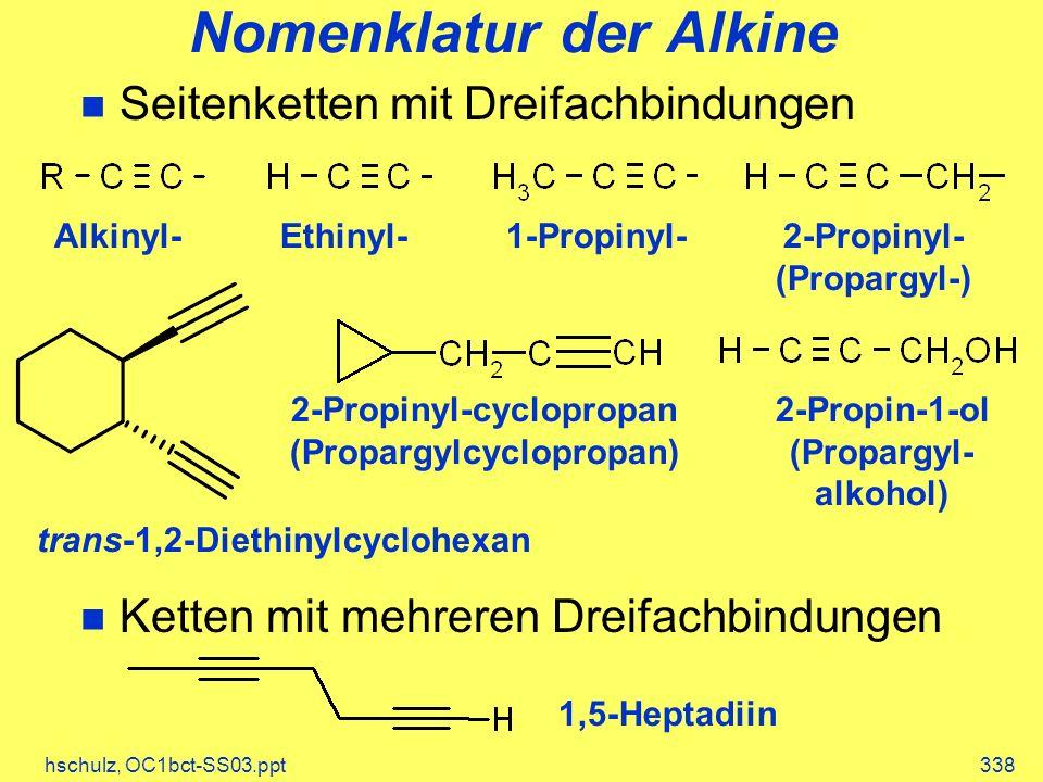 Nomenklatur der Alkine