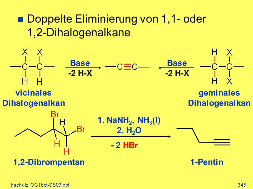 vicinales Dihalogenalkan geminales Dihalogenalkan