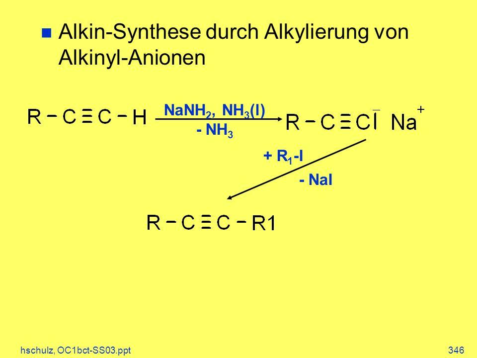 Alkin-Synthese durch Alkylierung von Alkinyl-Anionen
