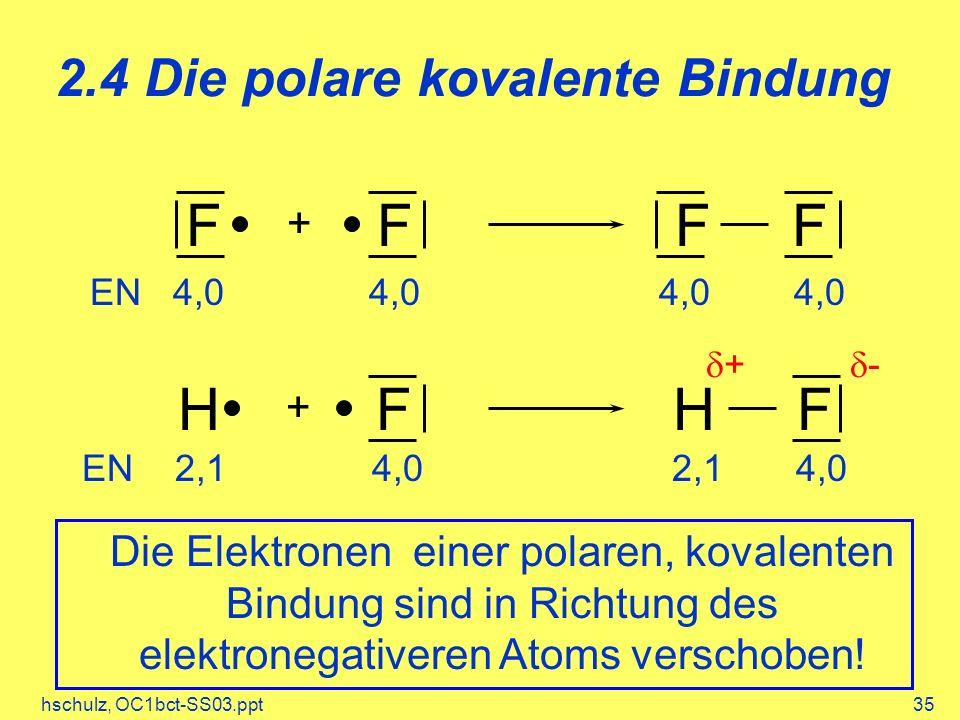 2.4 Die polare kovalente Bindung
