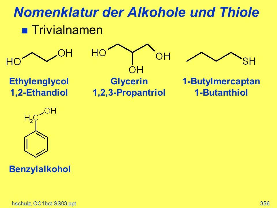 Nomenklatur der Alkohole und Thiole