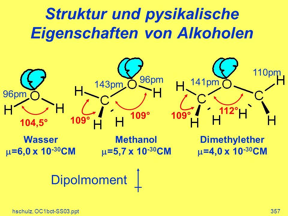 Struktur und pysikalische Eigenschaften von Alkoholen