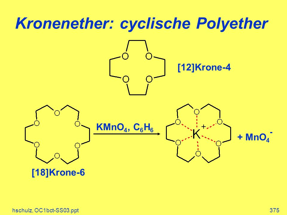 Kronenether: cyclische Polyether