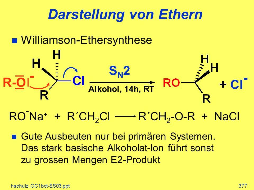 Darstellung von Ethern