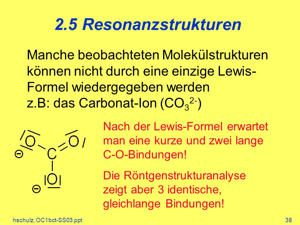 2.5 Resonanzstrukturen
