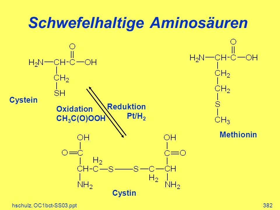 Schwefelhaltige Aminosäuren