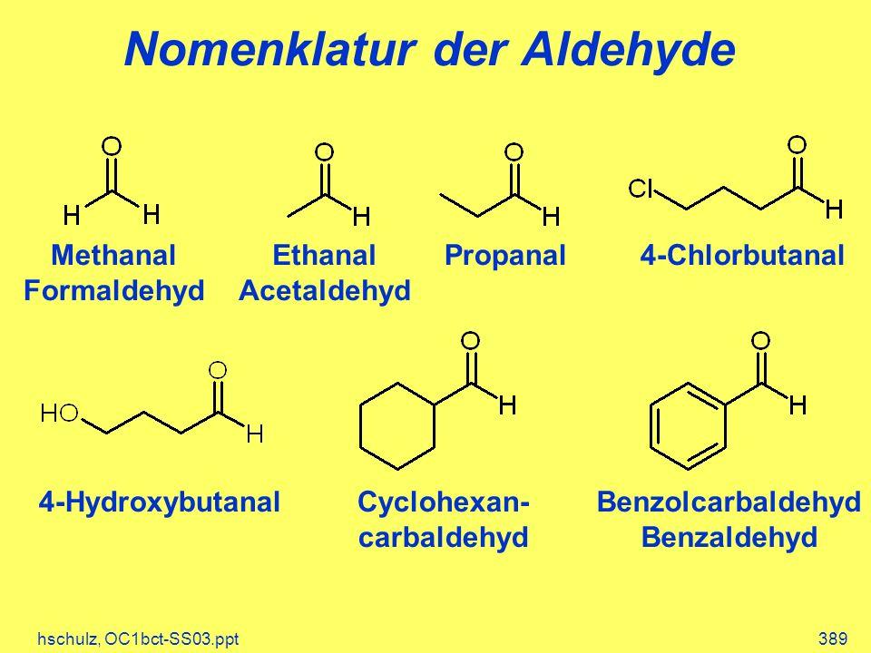 Nomenklatur der Aldehyde