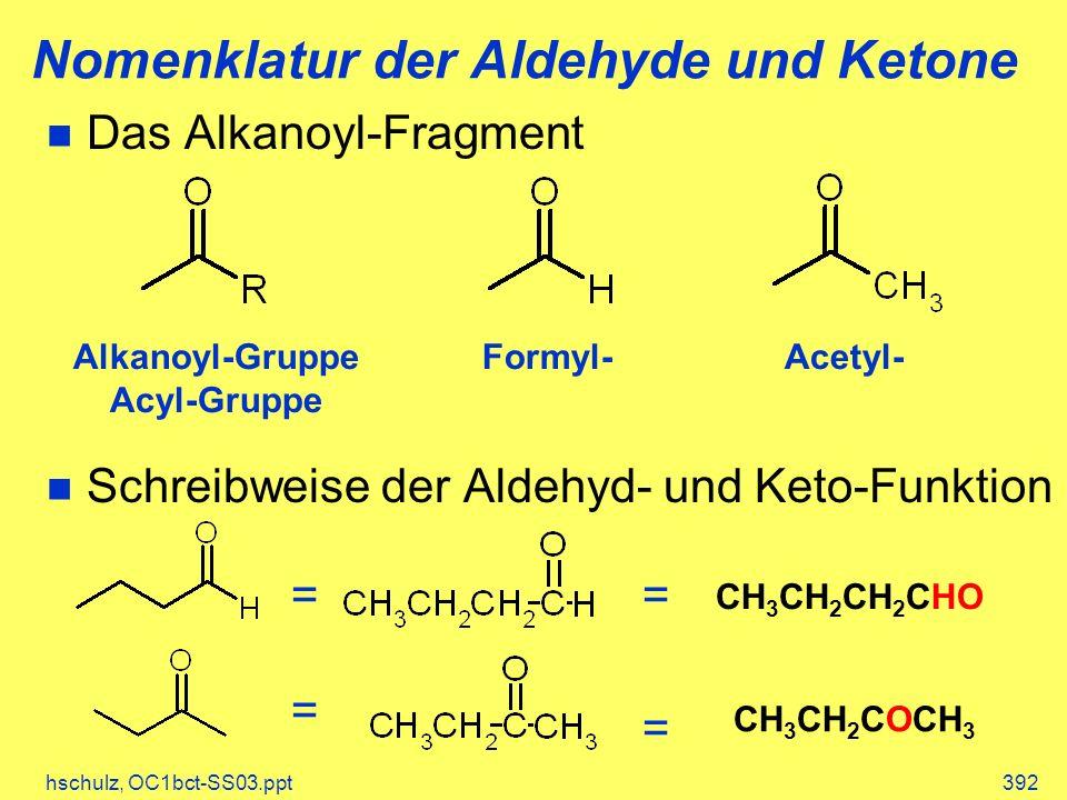Nomenklatur der Aldehyde und Ketone