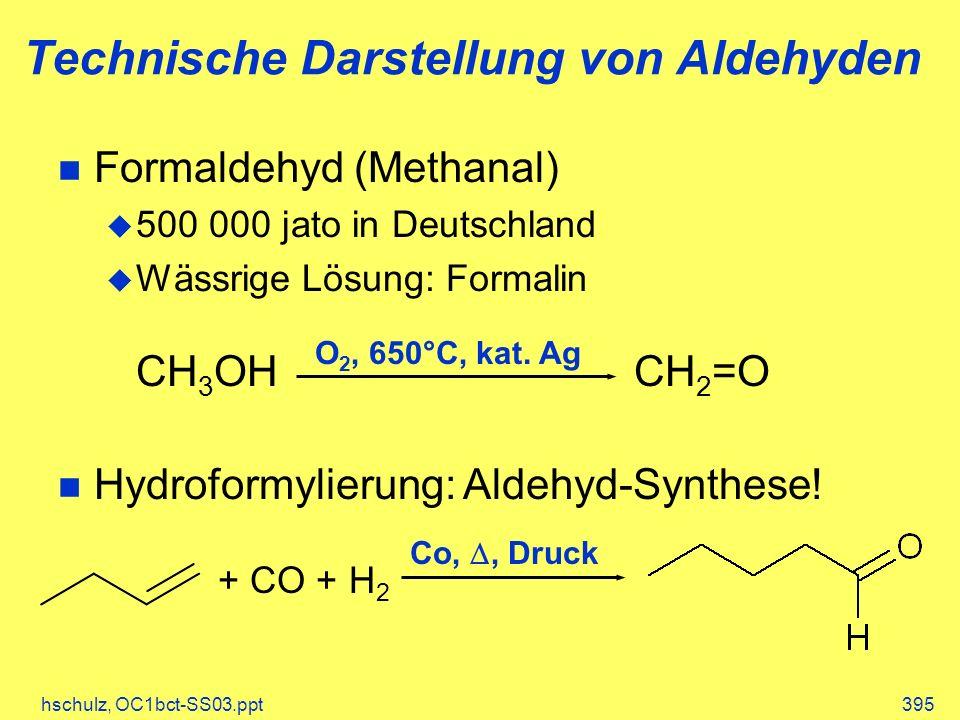 Technische Darstellung von Aldehyden
