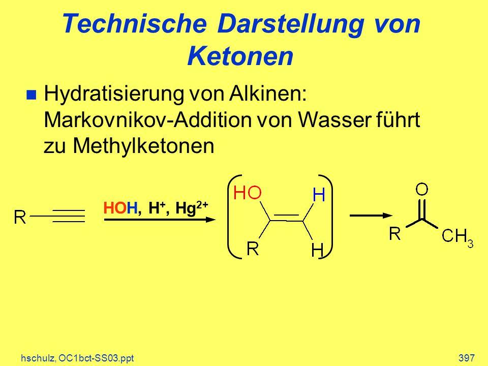 Technische Darstellung von Ketonen