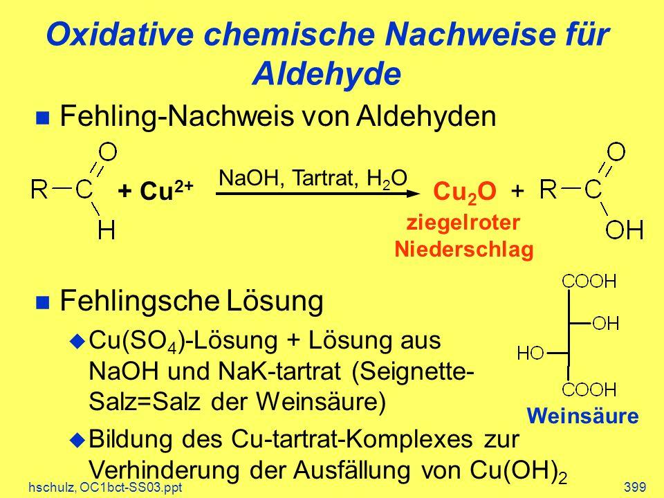 Oxidative chemische Nachweise für Aldehyde