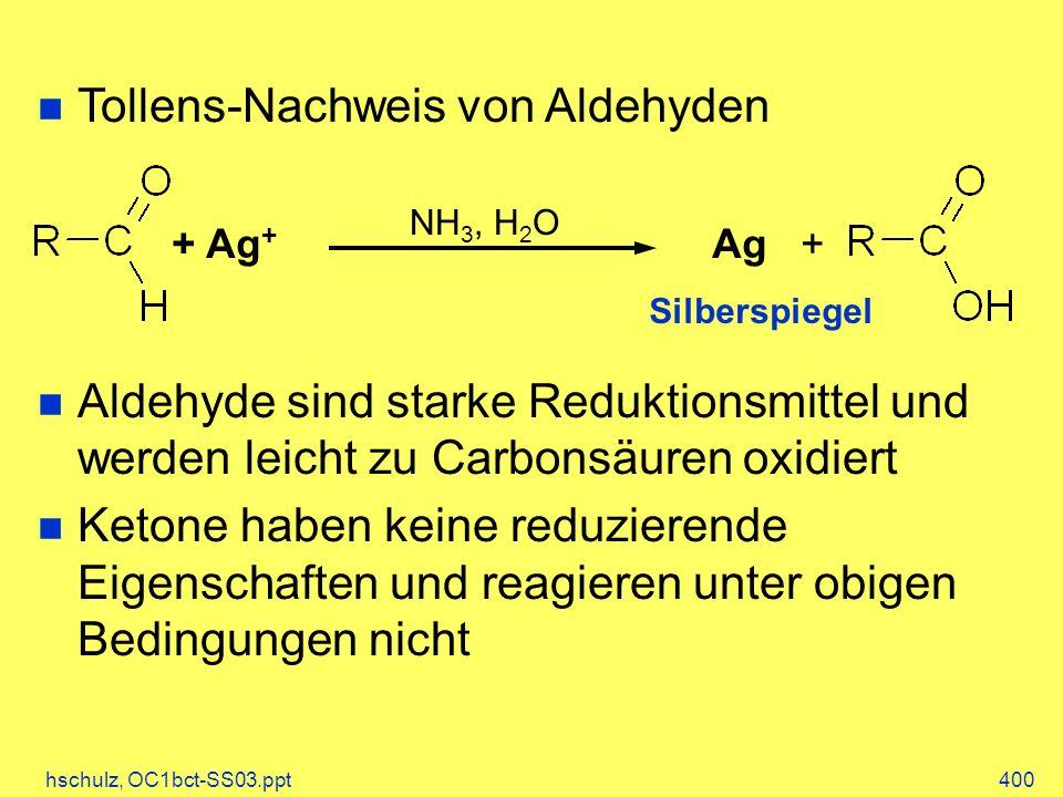Tollens-Nachweis von Aldehyden