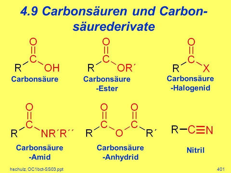 4.9 Carbonsäuren und Carbon-säurederivate