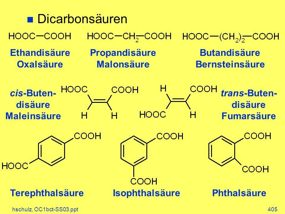 Dicarbonsäuren Ethandisäure Oxalsäure Propandisäure Malonsäure