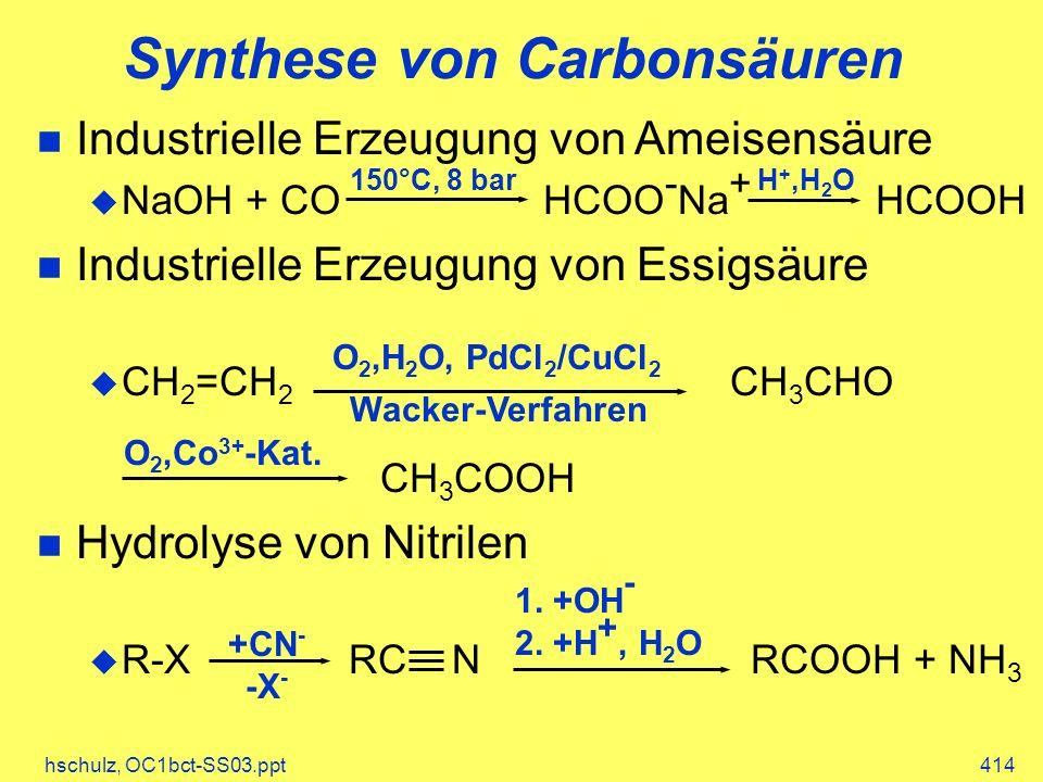 Synthese von Carbonsäuren
