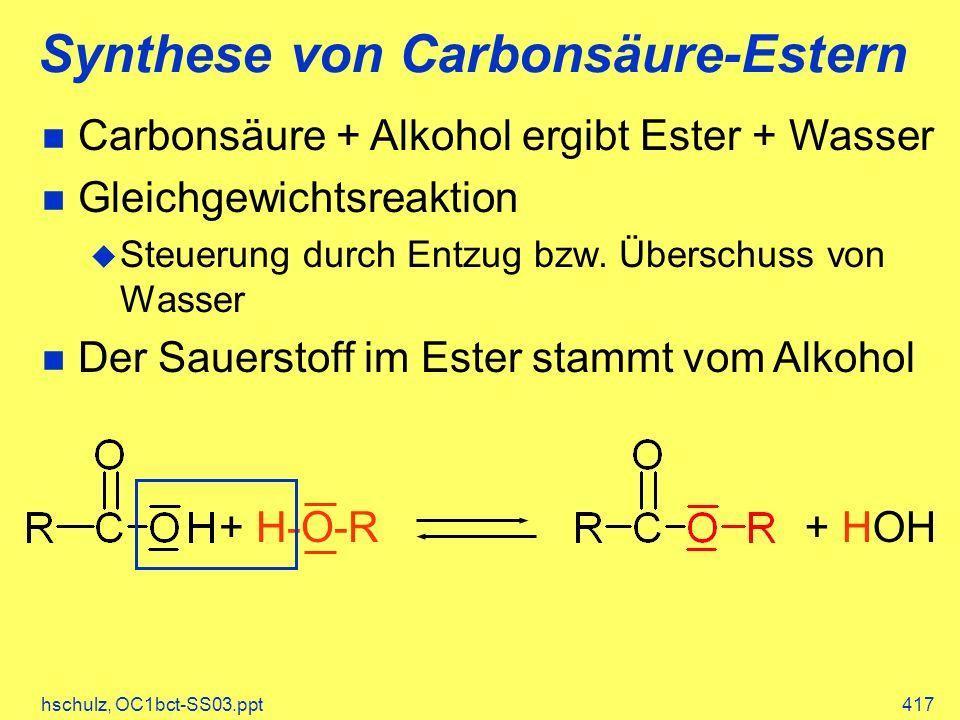 Synthese von Carbonsäure-Estern