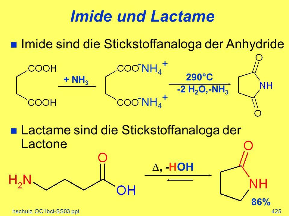Imide und Lactame -NH4+ -NH4+