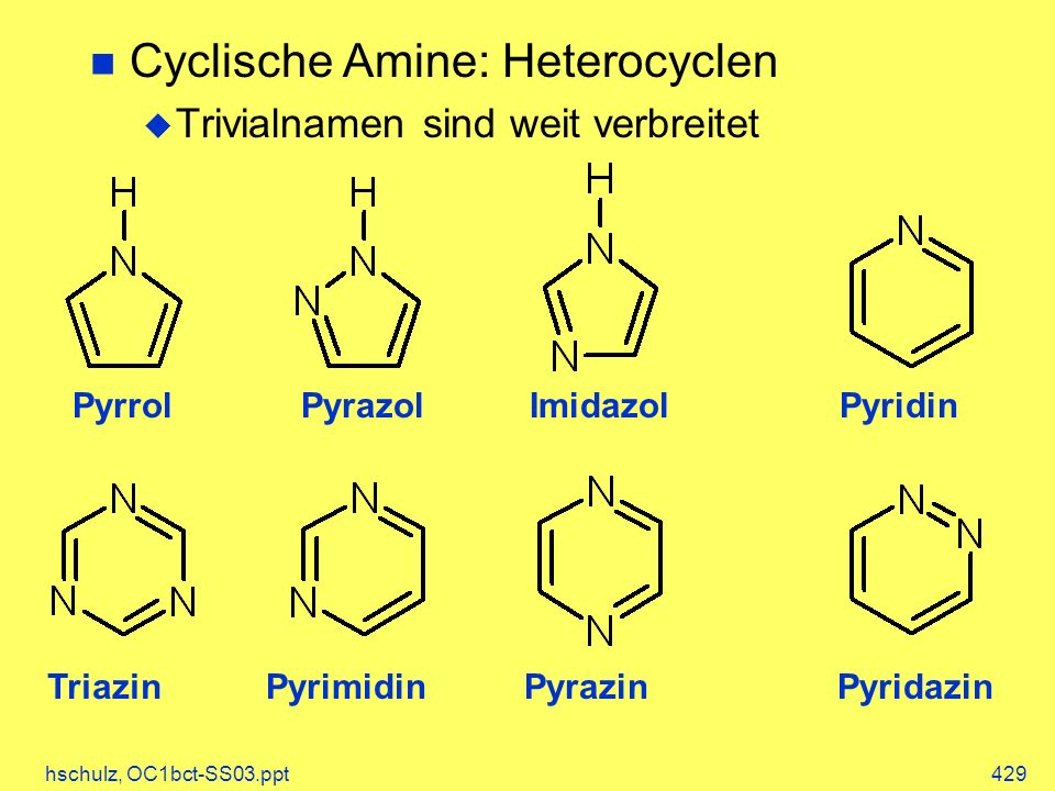 Cyclische Amine: Heterocyclen