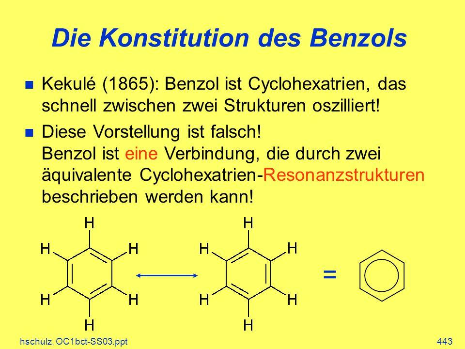 Die Konstitution des Benzols