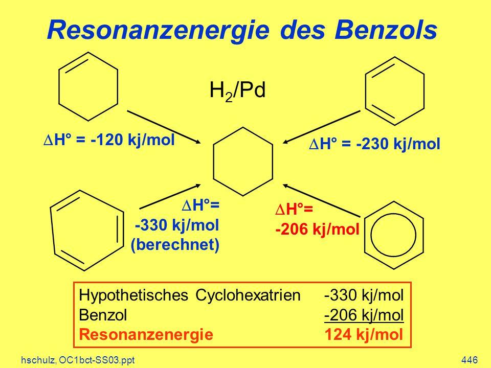 Resonanzenergie des Benzols