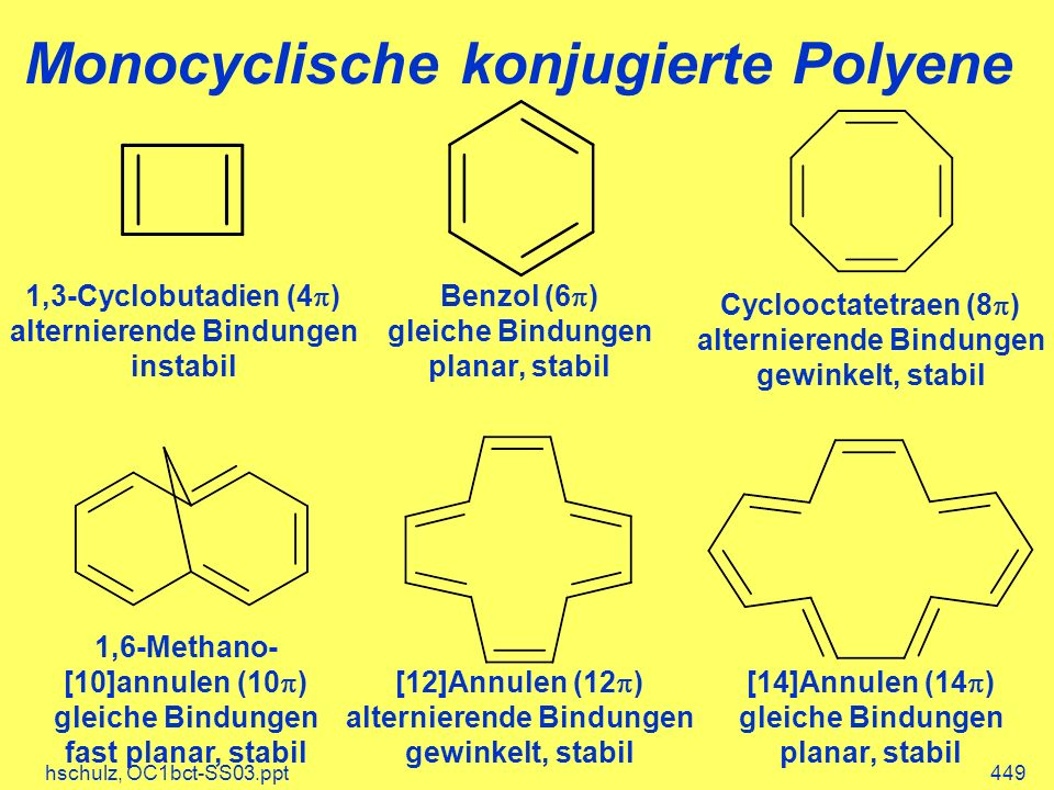 Monocyclische konjugierte Polyene