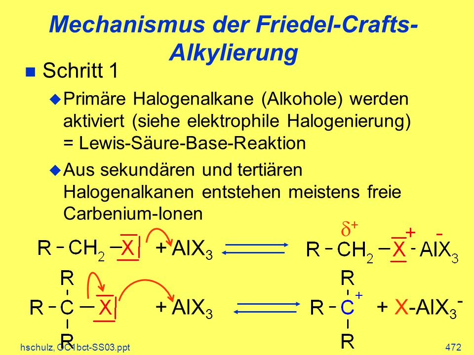 Mechanismus der Friedel-Crafts-Alkylierung