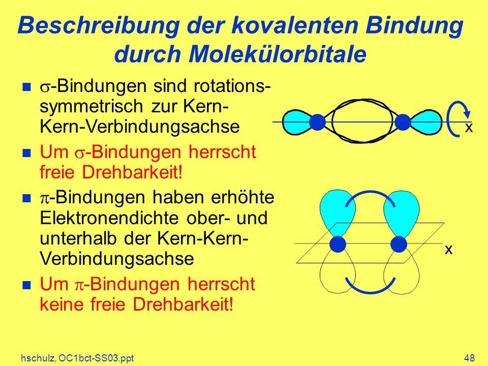 Beschreibung der kovalenten Bindung durch Molekülorbitale