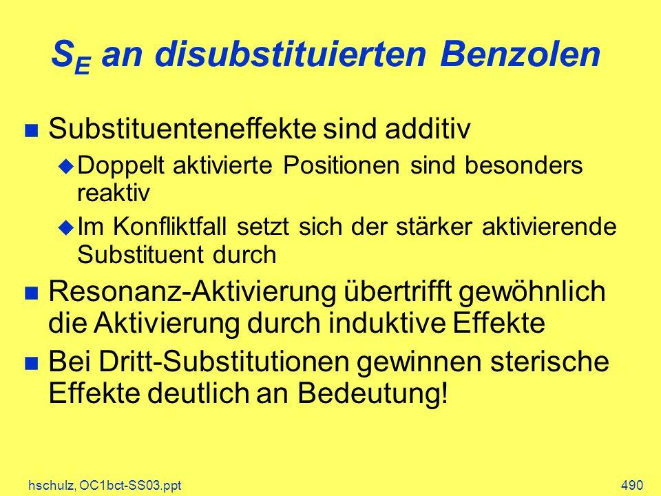 SE an disubstituierten Benzolen