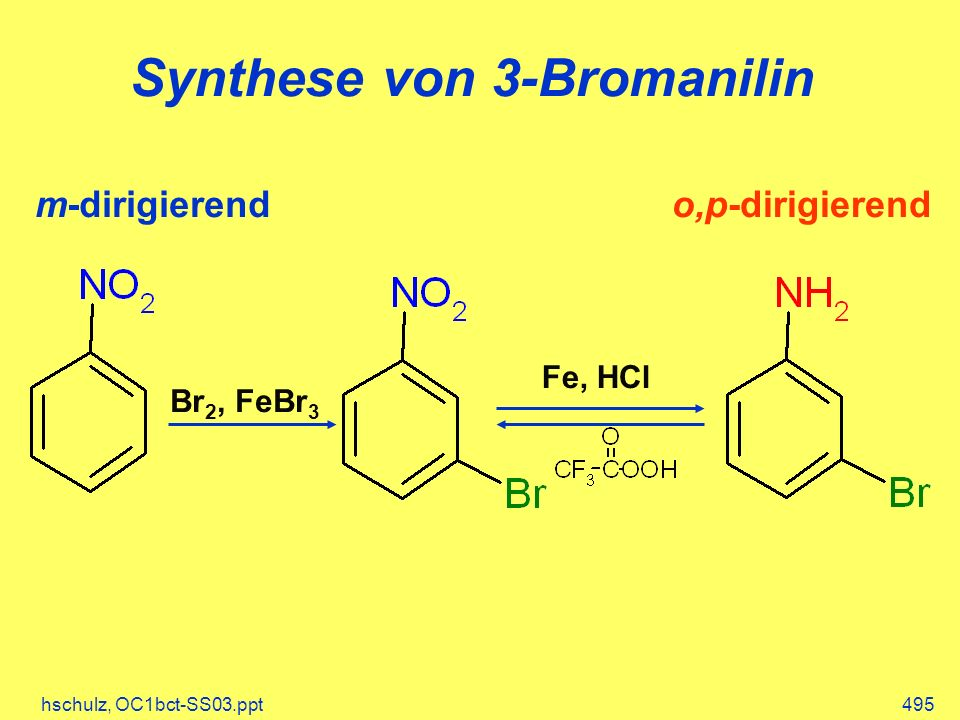 Synthese von 3-Bromanilin