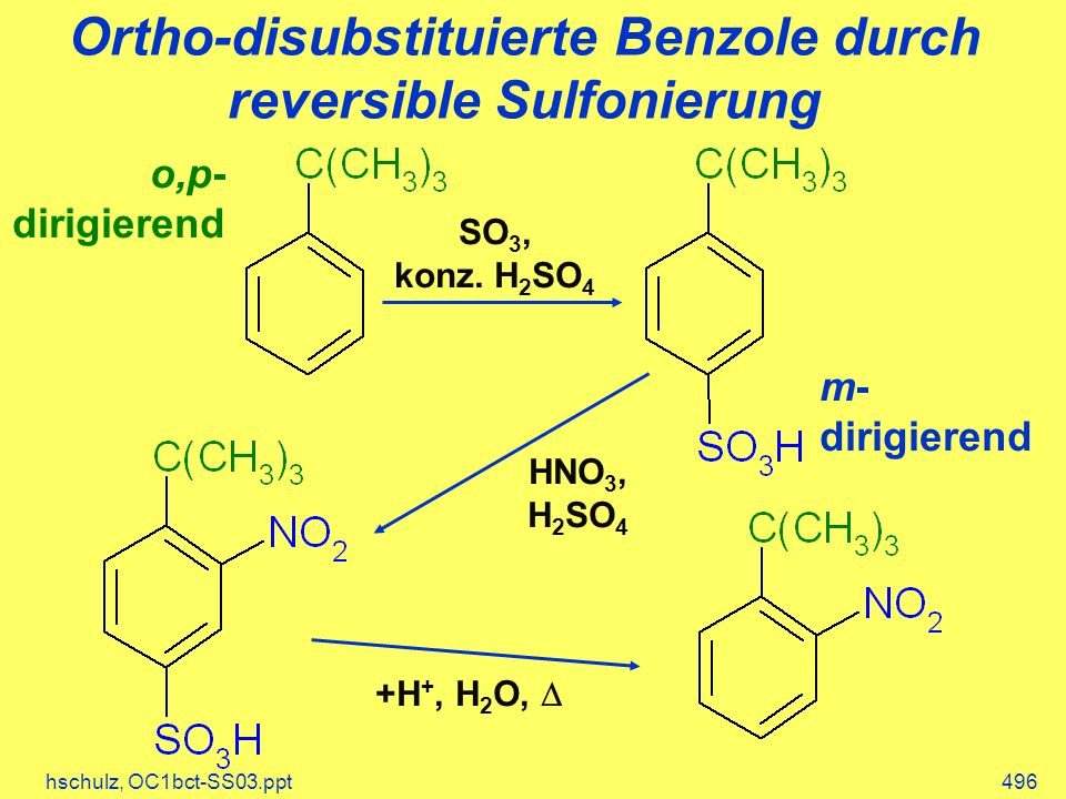 Ortho-disubstituierte Benzole durch reversible Sulfonierung