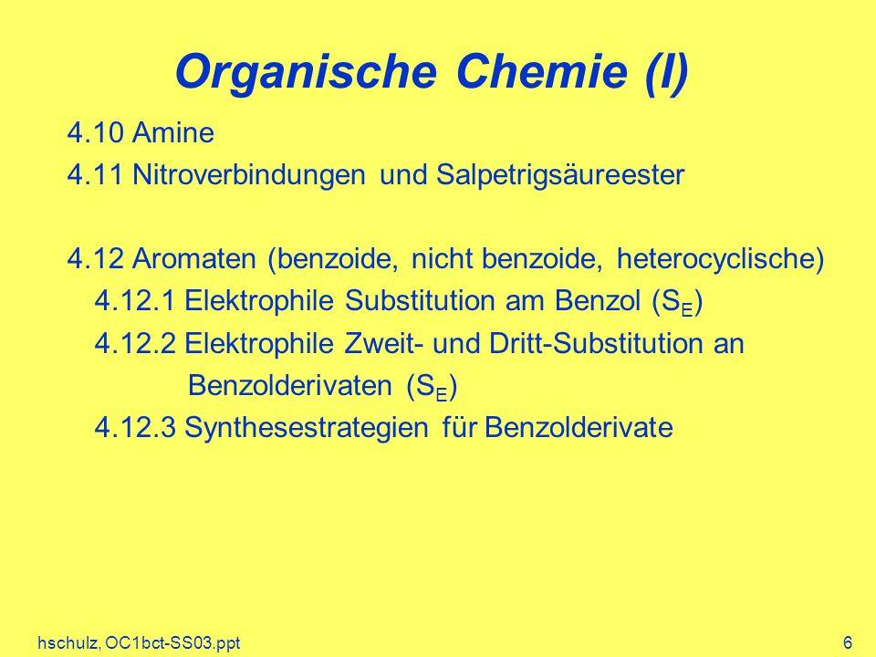 Organische Chemie (I) 4.10 Amine