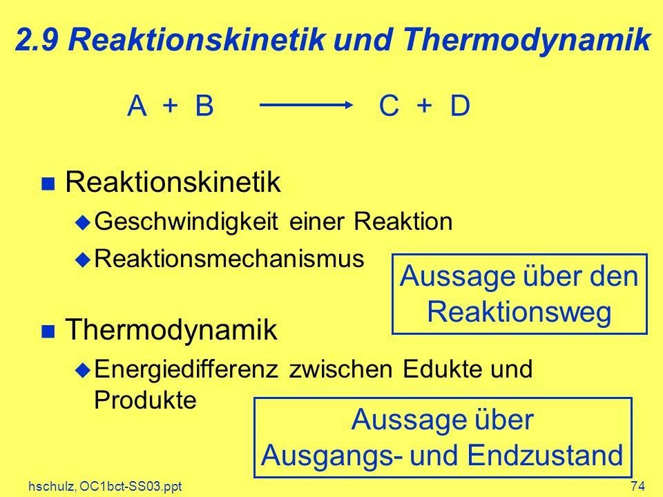 2.9 Reaktionskinetik und Thermodynamik