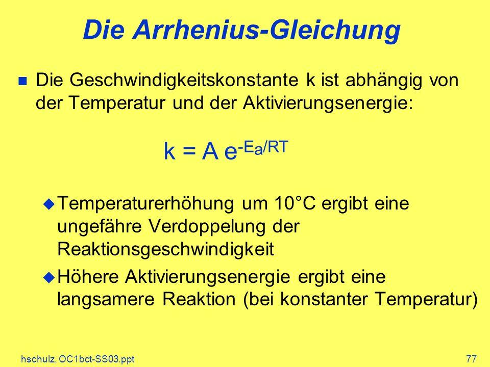 Die Arrhenius-Gleichung