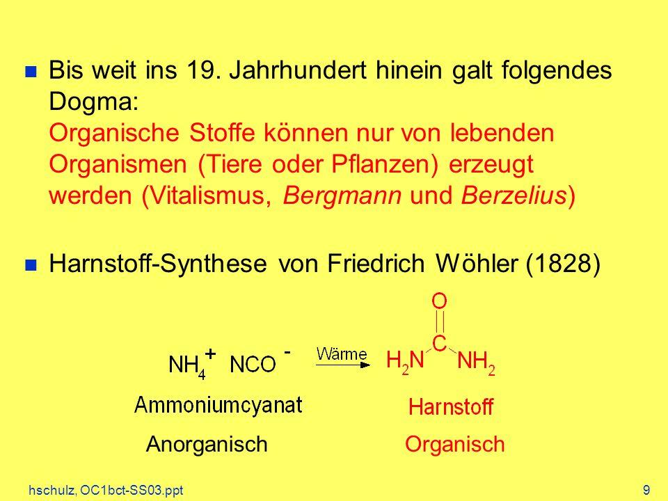 Harnstoff-Synthese von Friedrich Wöhler (1828)