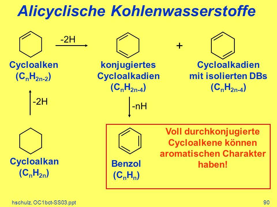 Alicyclische Kohlenwasserstoffe