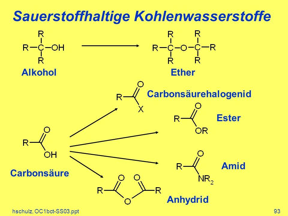 Sauerstoffhaltige Kohlenwasserstoffe