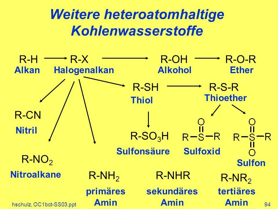 Weitere heteroatomhaltige Kohlenwasserstoffe
