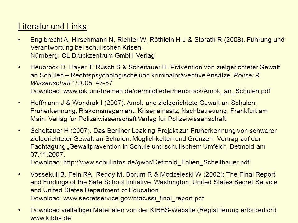 Literatur und Links: