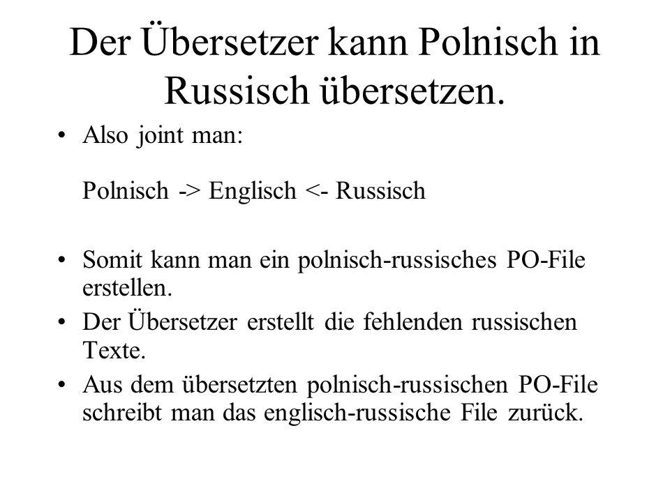 Der Übersetzer kann Polnisch in Russisch übersetzen.