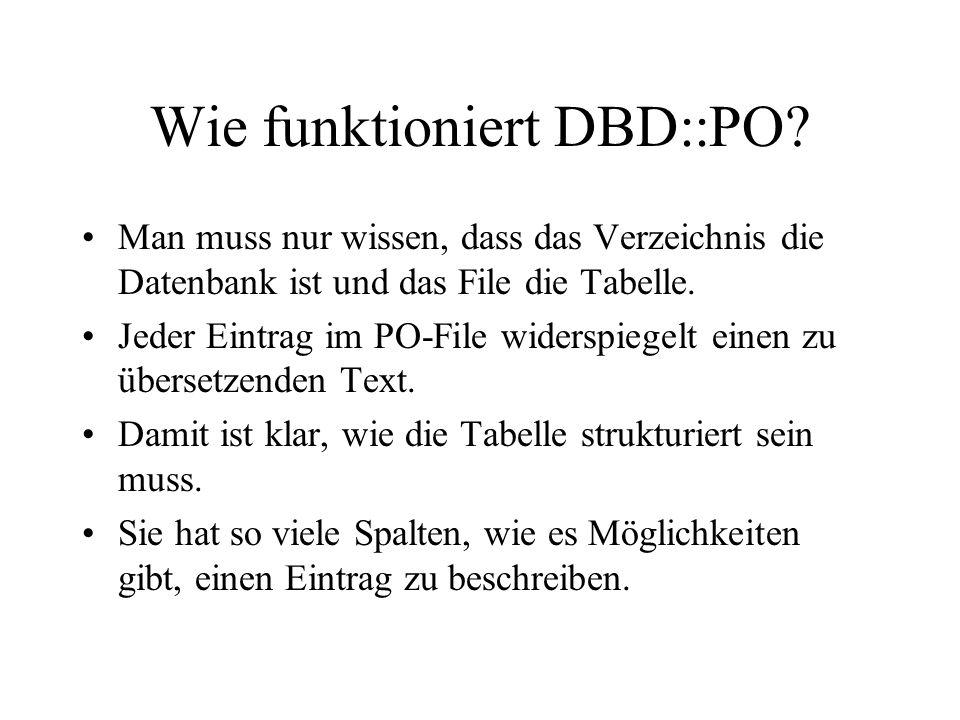 Wie funktioniert DBD::PO